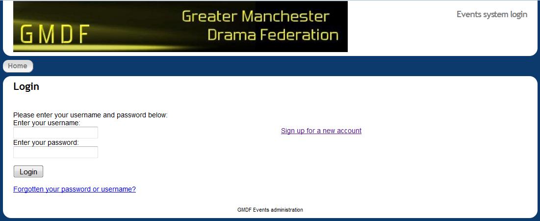 GMDF events login